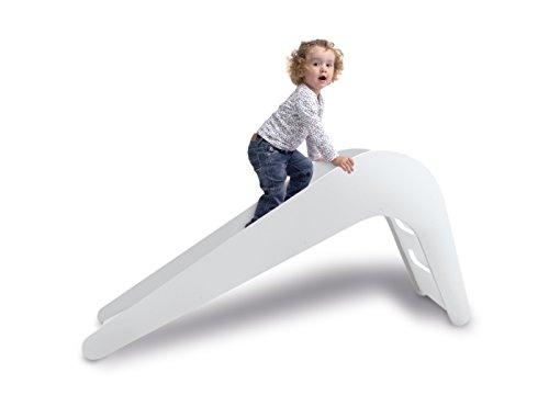 Jupiduu Kinderrutsche – Die Royale Indoor Holzrutsche fürs Wohn- & Kinderzimmer in Weiß. Alle Rutschen 100% Made in Germany! Ideal für Kinder von...
