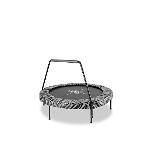 EXIT Tiggy junior Trampolin mit Bügel ø140cm - schwarz/grau