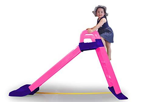 JAMARA 460503 Rutsche Funny Slide pink – aus robustem Kunststoff, Rutschauslauf für sanfte Landungen, Breite Stufen und Sicherheitsgriffe,...