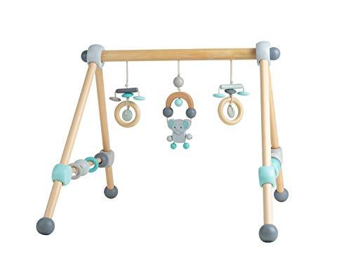 Bieco Spieltrapez | Spielbogen für Babys -Figuren, Rasseln, Kugeln | Spielebogen Holz Baby | Spieltrapez Holz | Baby Mobile Holz | Activity Center...