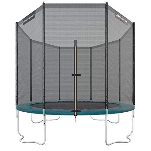 Ultrasport Outdoor Gartentrampolin Jumper, Trampolin Komplettset inklusive Sprungmatte, Sicherheitsnetz, gepolsterten Netzpfosten und Randabdeckung,...