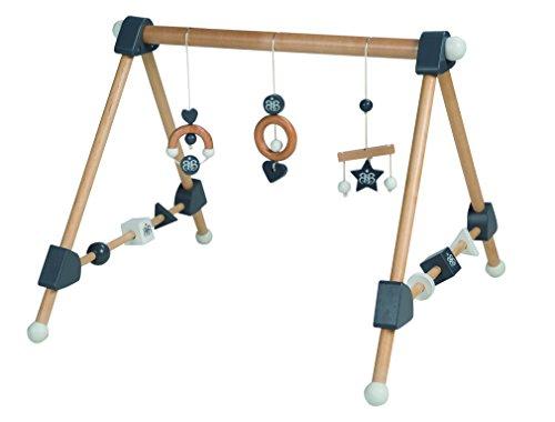 roba Spieltrapez, Aktivcenter mit höhenverstellbaren Spiel-und Greiftrainer, und Babyspielzeug aus Holz, mehrfarbig, H x B x T: 48 x 61 x 59 cm