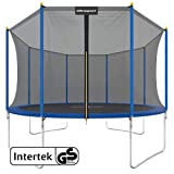 Ultrasport Uni-Jump Gartentrampolin, Intertek GS geprüft, Kinder Trampolin, Trampolin-Komplettset inkl. Sprungmatte, Sicherheitsnetz, gepolsterten...