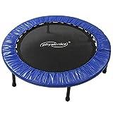 Physionics® Fitness Trampolin - Durchmesser (Ø): 81cm/ 91cm/ 96cm/ 102cm/ 114cm/ 122cm, Indoor und Outdoor, max: 100 KG, mit Randabdeckung -...