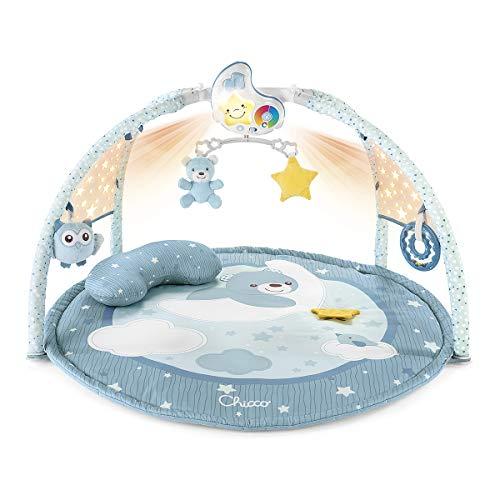 Chicco Enjoy Colours 3in1 Spielmatte, Multifunktionsspielbogen für Neugeborene mit Baby Aktivitätendecke, Sternenprojektor,Baby-Nachtlicht abnehmbar...