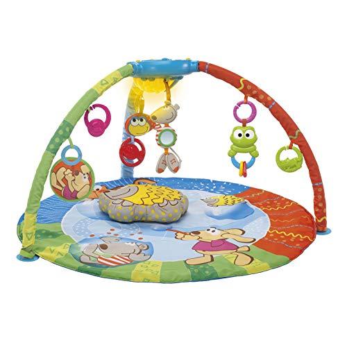 Chicco Bubble Gym Activity Spieldecke mit Spielbogen, Krabbeldecke mit Licht-/Soundbox, MP3-Anschluss, 7 Hängespielzeuge, Musik, Lichteffekte -...
