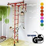 NiroSport FitTop M1 Indoor Klettergerüst für Kinder Sprossenwand für Kinderzimmer Turnwand Kletterwand, TÜV geprüft, kinderleichte Montage, max....