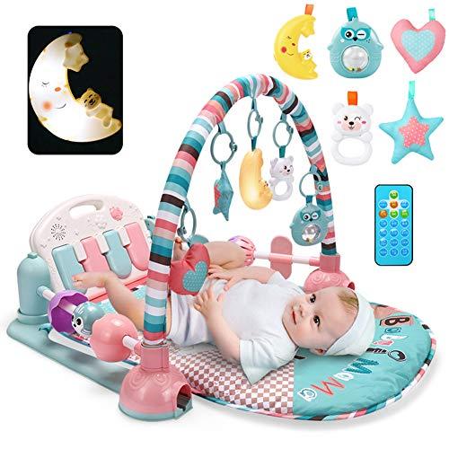HBIAO Spieldecke Baby, Musikspielmatte Piano Fitness Gym Matten Baby Aktivitätsmatte 3 in 1 Musikspielzeug Outdoor/Indoor Spieldecke Decke