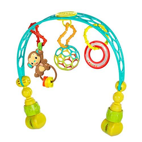 Bright Starts, Oball, Spielbogen für den Kinderwagen aus flexiblem, festem Oball-Material für einfaches Greifen