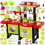 Kinderküche Spielküche Spielzeug Küche KP6031 mit Zubehör Zubehörteile Green Neu Küchenspielzeug SpielKüche mit Kochgeschirr, inkl. Licht und...