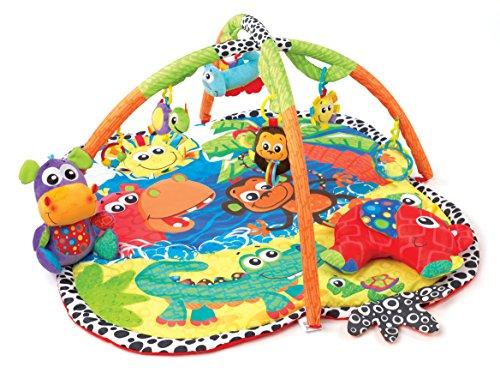 Playgro 0183214 Dschungel Freunde Erlebnis Spieldecke, mehrfarbig
