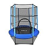 LBLA Trampolin Kinder Ø 140 cm Indoortrampolin Jumper mit Sicherheitsnetz, Randabdeckung Kindertrampolin Gartentrampolin Außentrampolin für Junge...
