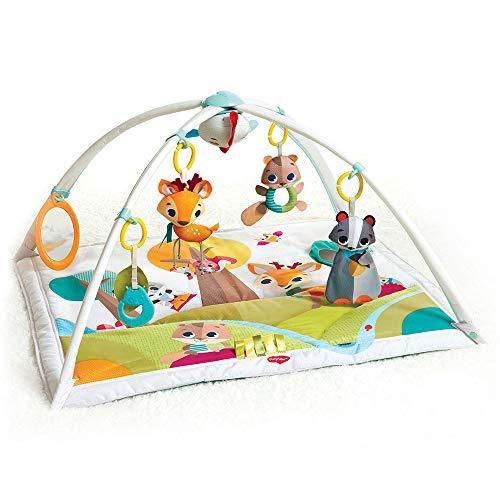 Tiny Love Baby Spieldecke Gymini Deluxe Into The Forest, Krabbeldecke mit verstellbaren Spielbögen, nutzbar ab der Geburt (0M+), 88 x 78 cm,...