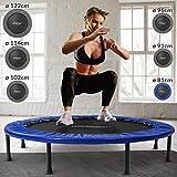 Physionics® Mini Trampolin - Durchmesser Ø 81 91 96 102 114 122 cm, max. Belastbarkeit 100 kg, mit Randabdeckung - Indoor und Outdoor...