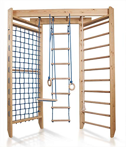 Hochwertiges Indoor Klettergerüst aus Holz