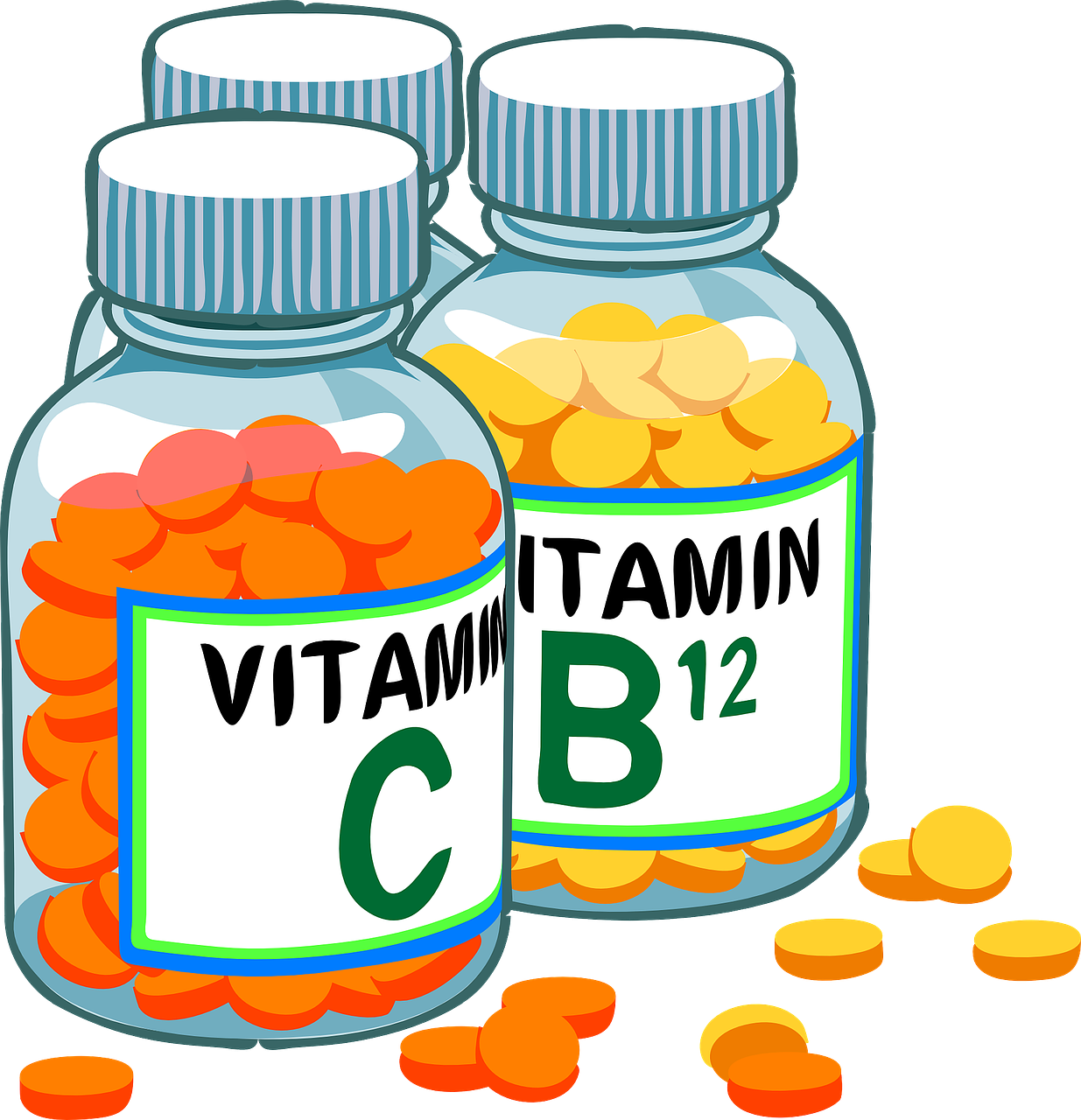 Vitamine als Pillen