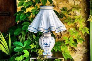 Lampe aus Porzellan